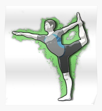 Wii Fit Trainer (Male) - Super Smash Bros. Poster