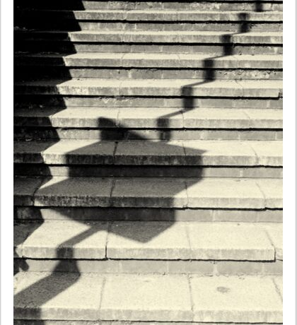 Concrete Steps Abstract Monochrome Sticker