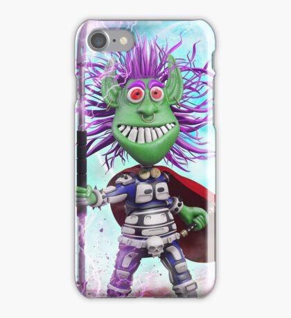 Cartoon Alien Warrior iPhone Case/Skin