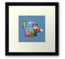 Princess Peach is in da' castle! Framed Print