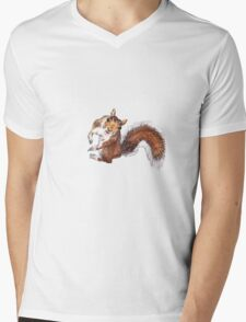 Squirrel Mens V-Neck T-Shirt