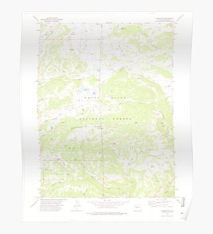 USGS TOPO Map Colorado CO Carbonate 400521 1974 24000 Poster