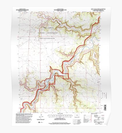 USGS TOPO Map Colorado CO Doss Canyon North 232847 1996 24000 Poster
