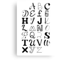 Alphabet Typography Canvas Print