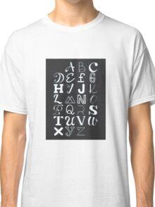 Alphabet typography Classic T-Shirt