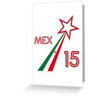 MEXICO STAR Greeting Card