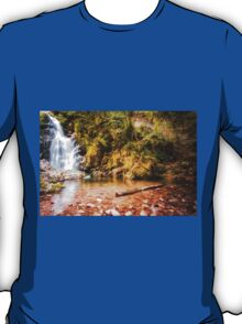 Autumn waterfall at Navarre in Spain T-Shirt