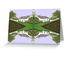 COTTAGES AT THE CROSSROADS Greeting Card