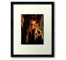 Flaming Mad Framed Print