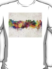 Halifax skyline in watercolor background T-Shirt