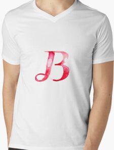Alphabet B Mens V-Neck T-Shirt