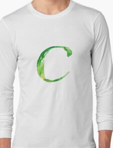 Alphabet C Long Sleeve T-Shirt