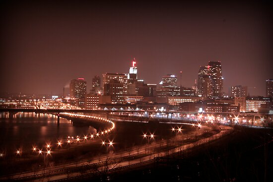 Saint Paul Skyline by sara montour