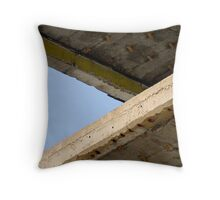 Between the floors, the sky Throw Pillow