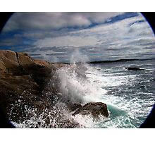 Peggy's Cove Splash Photographic Print