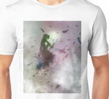 Abstract girl and raven Unisex T-Shirt