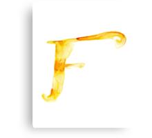 Alphabet F Canvas Print