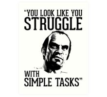 GTA V Trevor Simple Tasks Art Print