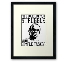 GTA V Trevor Simple Tasks Framed Print