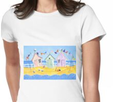 Summer Beach Huts Womens Fitted T-Shirt
