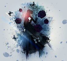 Abstract gothic woman background by AnnArtshock