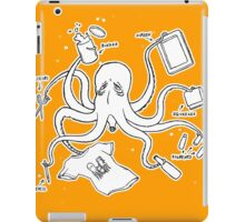 Screen Print Octopus iPad Case/Skin