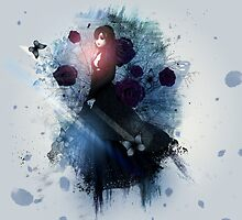Abstract gothic woman background 3 by AnnArtshock