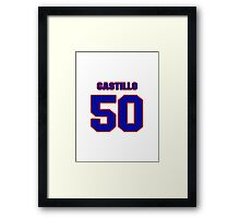 National baseball player Alberto Castillo jersey 50 Framed Print