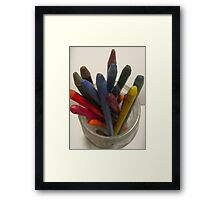 Pencil Jar Framed Print