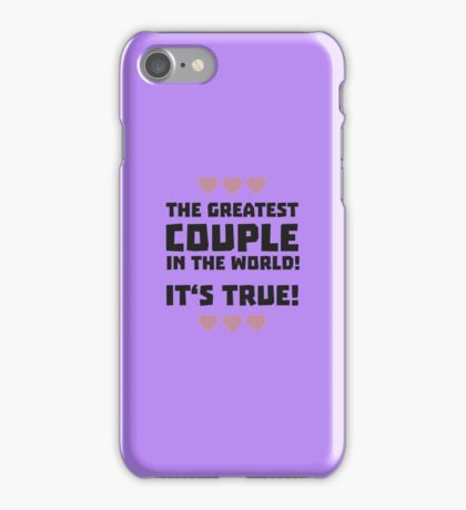 Worlds greatest couple R8r93 iPhone Case/Skin