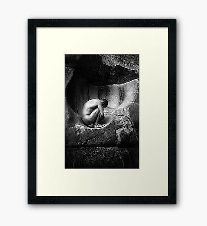 In Utero (Black and White) Framed Print