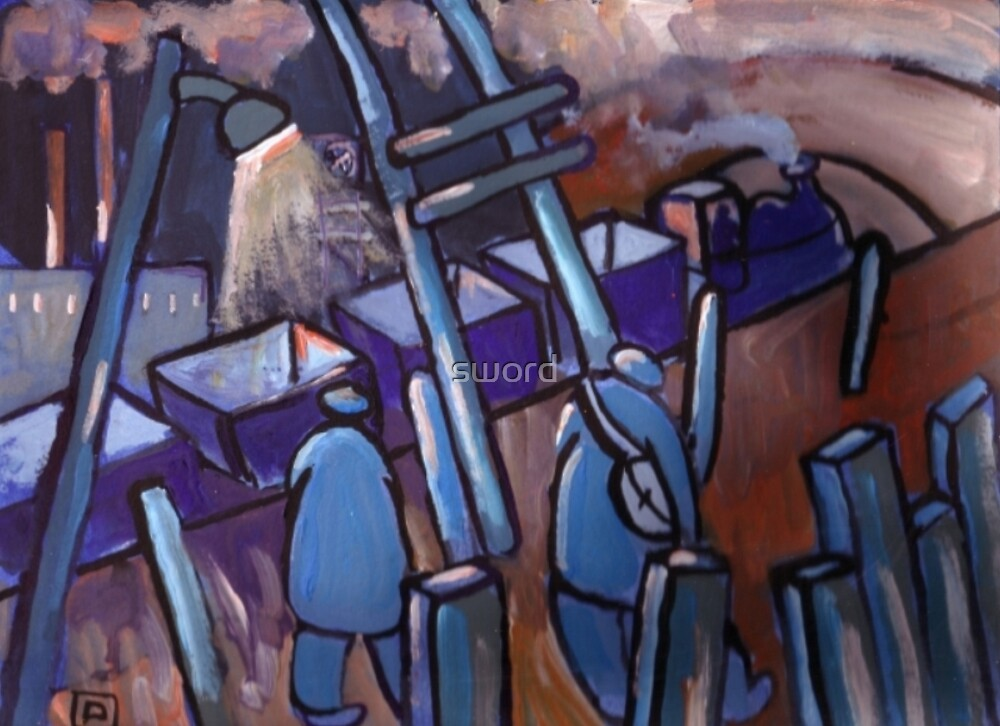 The coal train (from my original painting) by sword