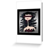 The Blindfolded Lady Greeting Card