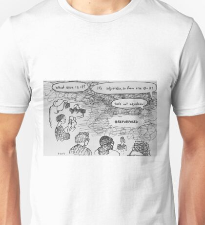 Reportage Sketch: #REPURPOSED Fashion Show at LACA Projects  Unisex T-Shirt
