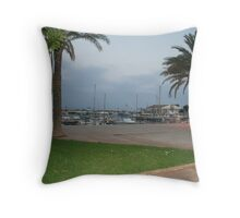 Cala Bona Harbour Throw Pillow