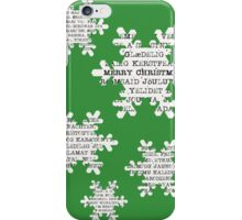 Paper snowflakes (in green)  iPhone Case/Skin