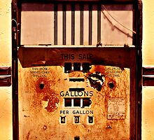 Retro Gas Pump by Karin  Hildebrand Lau