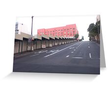 Pink city building Greeting Card