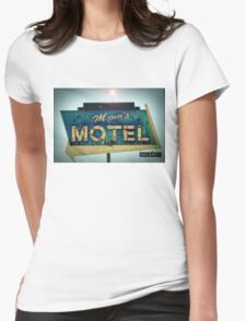 Mom's Motel T-shirt Womens Fitted T-Shirt