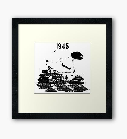 D DAY 1945 Framed Print