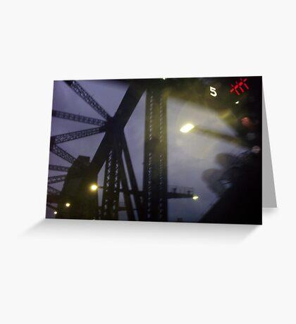 Surreal Bridge Greeting Card