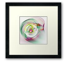 Swirling Twirling Whirling Colours Framed Print