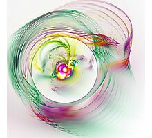 Swirling Twirling Whirling Colours Photographic Print