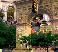 Washington Square Arch, Greenwich Village, NYC, NY by Ellen Turner