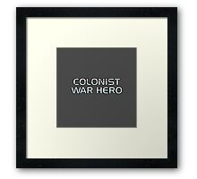Mass Effect Origins - Colonist War Hero Framed Print