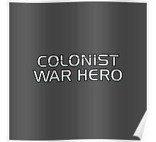 Mass Effect Origins - Colonist War Hero Poster