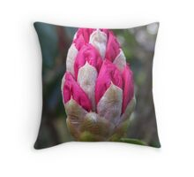 Rhododendron bud Throw Pillow