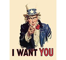 I Want You! Uncle Sam Wants You. USA, America Photographic Print