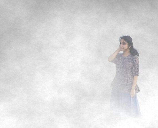 In the mist by Biswajit Pandey