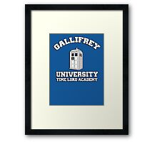 Gallifrey university time lord academy Framed Print